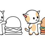 Gato com sanduíche