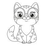 Gato com óculos