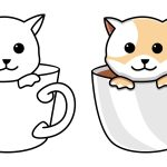 Gato na xícara