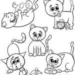 Desenhos fofos de gatos