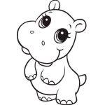Hipopótamo baby para pintar