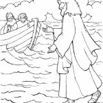 Jesus caminhando sobre o mar