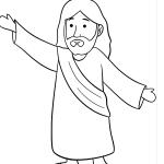 Jesus para imprimir e colorir