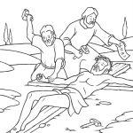 Jesus sendo crucificado