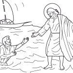 Jesus socorrendo Pedro