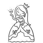 Linda princesa para colorir