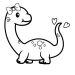 Lindo dinossauro para colorir