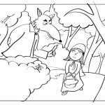 Lobo mau quer enganar Chapeuzinho