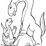 Mãe e bebê dinossauro