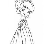 Menina Princesa para colorir