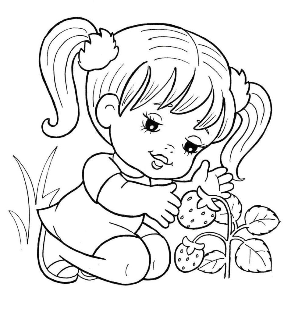 Menina e os moranguinhos