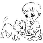 Menino e cachorrinho
