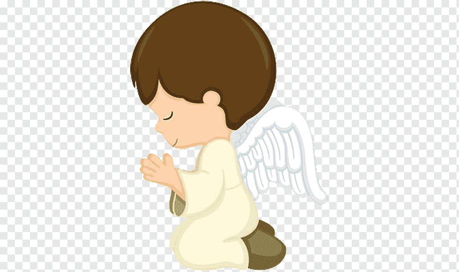 Menino orando topo de bolo