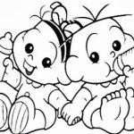 Mônica e Cebolinha bebês