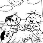 Mônica e seus amigos na praia