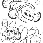 Nemo e seu pai para colorir