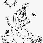 Olaf para colorir e pintar