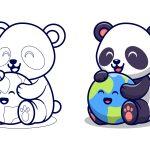 Panda brincando