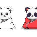 Panda com agasalho