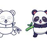 Panda comendo cana doce