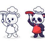 Panda-cozinheiro