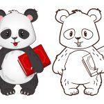 Panda-estudante