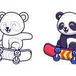 Panda-skatista
