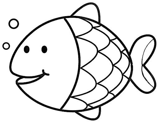Peixinho bola para colorir