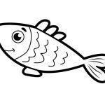 Peixinho grande para colorir