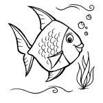 Peixinho nadando para pintar