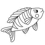 Peixinho para colorir grátis