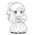 Pequena Princesa para imprimir e colorir