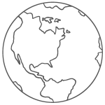 Planeta terra para colorir