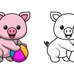 Porco-brincando-de-bola