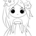 Princesa Chibi para colorir