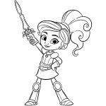 Princesa Nella para colorir