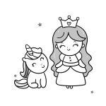 Princesa baby e unicórnio