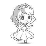 Princesinha linda para colorir