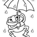 Sapo na chuva para pintar