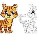 Tigre-fofo-para-colorir