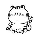 Tigre fofucho para pintar
