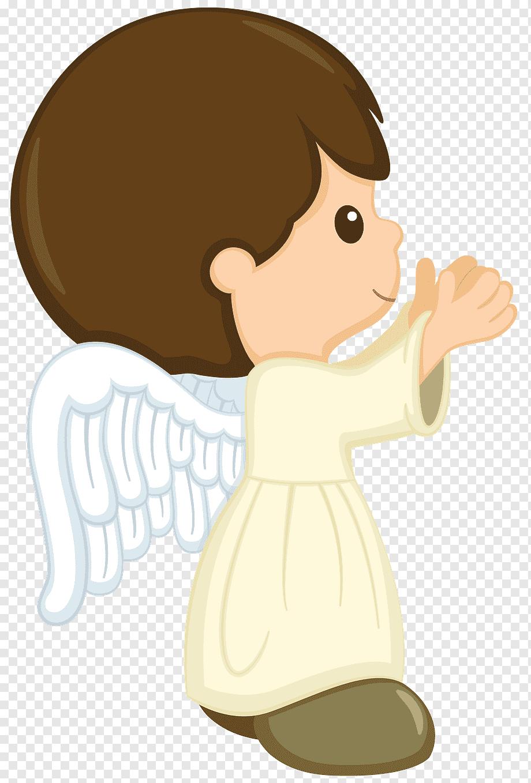 Topo de bolo batizado menino anjo
