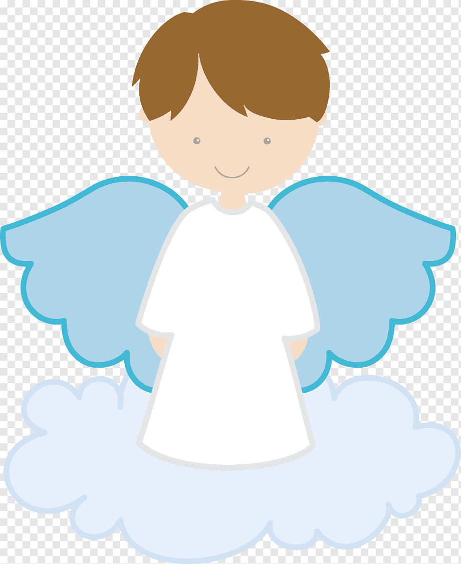 Topo de bolo de batismo com nuvem