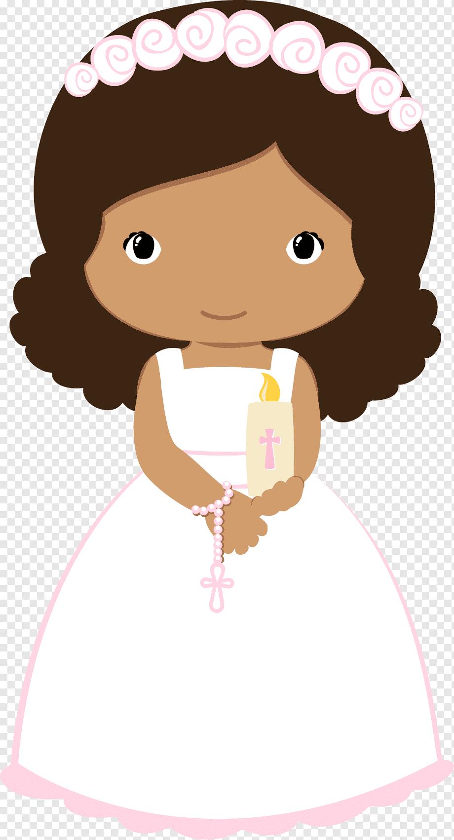 Topo de bolo menina batizado