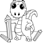 Vamos colorir o dinossauro