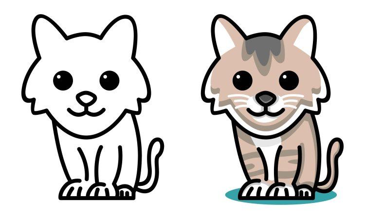 Vamos colorir o gato