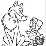 Vamos colorir o lobo mau